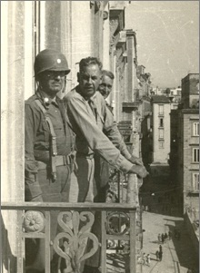 Frank McSherry standing on a balcony.